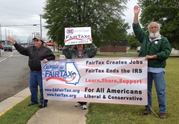 Local FairTax Clubs Rally on April 15th Tax Day:  Go Warner Robins!!