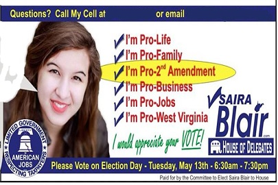 a biography and political career of saira blair College freshman saira blair was just elected to the west virginia house of delegates,  america's youngest elected politician:  who are your political role models.