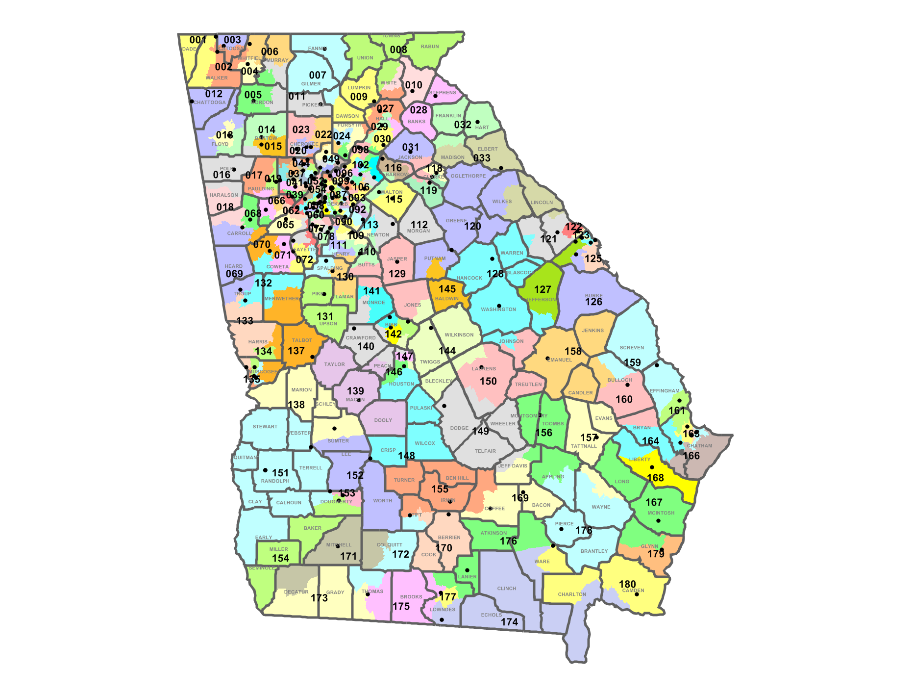 State Representatives Georgia For FairTax - Us State Legislature Map